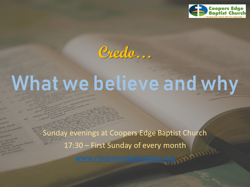 We Believe – The Doctrine of God